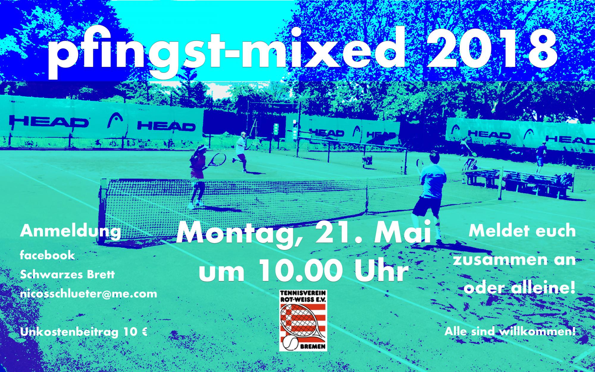 Rw Pfingstmixed 2018 Tennisverein Rot Weiss Ev Bremen